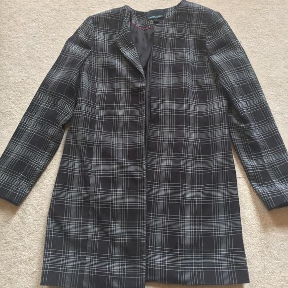 Cynthia Rowley Jackets & Blazers - Cynthia Rowley Plaid Long Blazer Coat Wear to Work
